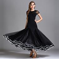Επίσημος Χορός Φορέματα Γυναικεία Επίδοση Ανώτερη Προσομοίωση Μεταξιού / Τούλι / Τεχνητό Μετάξι Που καλύπτει Κοντομάνικο Ψηλό Φόρεμα
