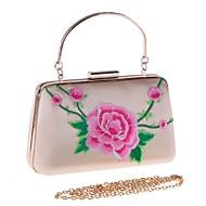 Női Táskák Poliészter   Ötvözet Estélyi táska Hímzés   Virág Virágminta  Rubin   Arcpír rózsaszín   Mandula 52f8b38003