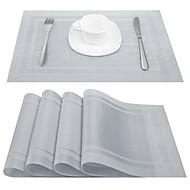 billige Kuvertbrikker-Klassisk PVC Kvadrat Bordskånere Printer Borddekorasjoner 4 pcs