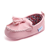 baratos Sapatos de Menina-Para Meninos / Para Meninas Sapatos Couro Ecológico Primavera & Outono Primeiros Passos Mocassins e Slip-Ons Mocassim para Bebê Prateado / Azul / Rosa claro
