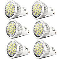 billige Spotlys med LED-6pcs 5 W 400 lm GU10 LED-spotpærer 16 LED perler SMD 5730 Mulighet for demping / Dekorativ Varm hvit / Kjølig hvit 220-240 V