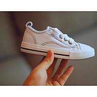baratos Sapatos de Menina-Para Meninos / Para Meninas Sapatos Lona Primavera & Outono Conforto Tênis para Preto / Amarelo / Ivory