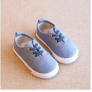baratos Sapatos de Menino-Para Meninos / Para Meninas Sapatos Lona Primavera & Outono Conforto Tênis Elástico para Infantil Azul Escuro / Vermelho / Azul Claro