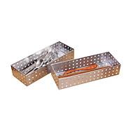 billiga Köksförvaring-Kök Organisation Förvarngslådor Rostfritt stål Lätt att använda 2pcs