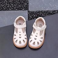 baratos Sapatos de Menina-Para Meninas Sapatos Microfibra Verão Conforto / Sapatos para Daminhas de Honra Sandálias para Branco / Preto / Rosa claro