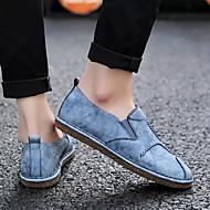 baratos Sapatos Masculinos-Homens Solas Claras Couro Sintético / Couro Ecológico Outono Mocassins e Slip-Ons Branco / Preto / Azul Claro