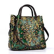 tanie Torby na ramię-torebki damskie skórzana torba na ramię nappa zipper czerwony / brązowy / zielony