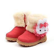 baratos Sapatos de Menino-Para Meninos / Para Meninas Sapatos Couro Ecológico Inverno / Outono & inverno Botas de Neve Botas Caminhada Estampa Animal para Infantil Vermelho / Rosa claro / Castanho Escuro / Botas Cano Médio