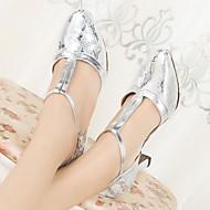 billige Moderne sko-Dame Moderne sko PU Høye hæler Tykk hæl Dansesko Sølv