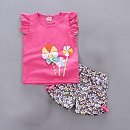 مجموعة ملابس بدون كم لون سادة أساسي للفتيات طفل صغير