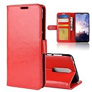 Maska Pentru Nokia Nokia 7 Plus / Nokia X6 Portofel / Titluar Card / Întoarce Carcasă Telefon Mată Greu PU piele pentru Nokia 8 / 8 Sirocco / Nokia 7