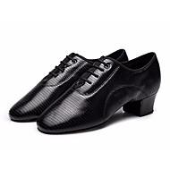 billige Moderne sko-Herre Moderne sko Lær Oxford Tykk hæl Dansesko Svart