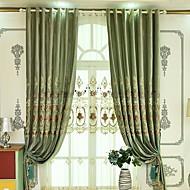 baratos Cortinas Transparentes-Sheer Curtains Shades Quarto Sólido Algodão / Poliéster Estampado