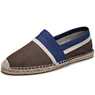 baratos Sapatos Masculinos-Homens Lona Primavera / Verão Alpargata Mocassins e Slip-Ons Respirável Listrado Cinzento / Marron / Azul Real