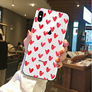 Carcasă Pro Apple iPhone X / iPhone 8 Průhledné / Vzor Zadní kryt Srdce Měkké TPU pro iPhone X / iPhone 8 Plus / iPhone 8