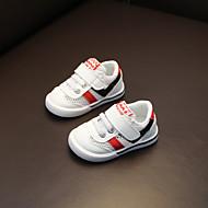 baratos Sapatos de Menino-Para Meninos Sapatos Com Transparência Primavera & Outono Primeiros Passos Tênis Velcro para Bebê Vermelho / Verde / Estampa Colorida