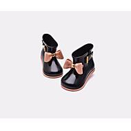 baratos Sapatos de Menina-Para Meninas Sapatos Borracha Primavera & Outono Conforto / Botas de Chuva Botas para Preto / Vermelho / Rosa claro