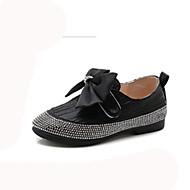 baratos Sapatos de Menina-Para Meninas Sapatos Couro Ecológico Outono & inverno Sapatos para Daminhas de Honra Rasos Caminhada Presilha para Infantil Preto / Prateado / Rosa claro