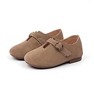 baratos Sapatos de Menina-Para Meninas Sapatos Couro Outono Conforto Rasos para Preto / Camel / Khaki