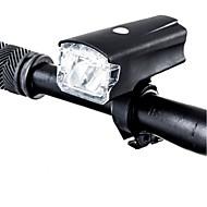 billige Sykkellykter og reflekser-Frontlys til sykkel LED LED Sykling Vanntett, Bærbar, Profesjonell USB 220 lm Usb Hvit Camping / Vandring / Grotte Udforskning / Dagligdags Brug / Sykling