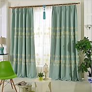 verduisteringsgordijnen gordijnen woonkamer modern polyester blend borduurwerk verduisterend