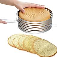 baratos Utensílios para Biscoitos-Ferramentas bakeware Aço Inoxidável + Plástico ABS / Aço Inoxidável Multifunções / Faça Você Mesmo Pão / Bolo / para bolo Redonda Moldes de bolos / bolo de cortador 1pç