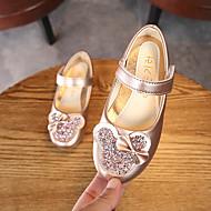 baratos Sapatos de Menina-Para Meninas Sapatos Couro Ecológico Primavera & Outono Sapatos para Daminhas de Honra Rasos Caminhada Presilha para Infantil Dourado / Rosa claro / Champanhe