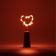 billige Lamper-BRELONG® 1pc Vinflaske Stopper LED Night Light Varm hvit / Hvit / Rød Knapp batteridrevet Kreativ / Hjemmesikkerhet / Romantikk <5 V