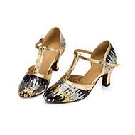 billige Moderne sko-Dame Moderne sko Syntetisk Høye hæler Tykk hæl Dansesko Gull