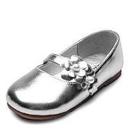 baratos Sapatos de Menina-Para Meninas Sapatos Couro Sintético / Sintéticos Primavera & Outono Conforto / Sapatos para Daminhas de Honra Rasos Flor / Velcro para Infantil Dourado / Prata / Festas & Noite