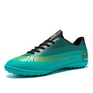 baratos Sapatos de Menino-Para Meninos Sapatos Couro Outono & inverno Conforto Tênis Futebol Cadarço para Adolescente Dourado / Prateado / Verde