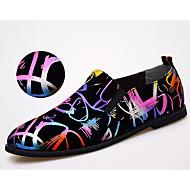 baratos Sapatos Masculinos-Homens Impressão Oxfords Couro Sintético Primavera / Outono Formais Mocassins e Slip-Ons Arco-íris / Festas & Noite