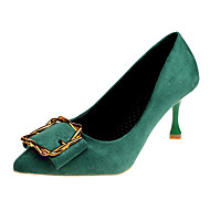 Women's Pumps PU(Polyurethane) Fall Minimalism Heels Stiletto Heel Pointed Toe Yellow / Green / Almond / Party & Evening / Daily / Party & Evening