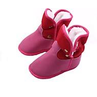 baratos Sapatos de Menina-Para Meninos / Para Meninas Sapatos Algodão Inverno / Outono & inverno Sapatos de Berço / Botas de Neve Botas Presilha para Bebê Azul Escuro / Cinzento / Fúcsia / Festas & Noite / Estampa Colorida