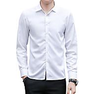 Klassisk krave Tynd Herre - Ensfarvet Skjorte / Langærmet