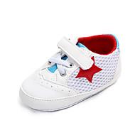 baratos Sapatos de Menina-Para Meninas Sapatos Com Transparência Primavera & Outono Primeiros Passos Tênis Velcro para Bebê Branco / Preto / Vermelho / Estampa Colorida