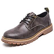 baratos Sapatos Masculinos-Homens Microfibra Primavera / Outono Coturnos Oxfords Botas Curtas / Ankle Cinzento / Castanho Claro / Castanho Escuro