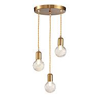 billiga Belysning-3-Light Kristall Hängande lampor Glödande - Kristall, 110-120V / 220-240V Glödlampa inte inkluderad