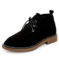 Χαμηλού Κόστους Γυναικείες Μπότες-Γυναικεία Fashion Boots Σουέτ Φθινόπωρο Καθημερινό Μπότες Χαμηλό τακούνι Στρογγυλή Μύτη Μποτίνια Μαύρο / Πράσινο
