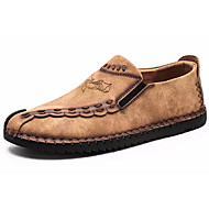 baratos Sapatos Masculinos-Homens Pele Outono Conforto Mocassins e Slip-Ons Preto / Amarelo / Khaki