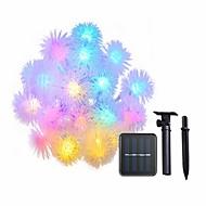 billiga Belysning-4,6 Ljusslingor 20 lysdioder Dip LED Varmvit / Multifärg Sol / Dekorativ Soldriven 1st