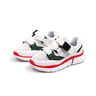 baratos Sapatos de Menino-Para Meninos Sapatos Com Transparência / Couro Ecológico Primavera & Outono / Primavera Verão Conforto Tênis Corrida / Caminhada Presilha / Combinação para Infantil Branco / Preto / Rosa claro