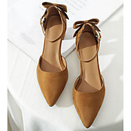 baratos Sapatos Femininos-Mulheres Stiletto Couro Ecológico Primavera Verão Saltos Salto Robusto Preto / Amêndoa / Castanho Escuro