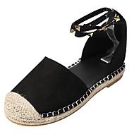 baratos Sapatos Femininos-Mulheres Sapatos Camurça Verão Conforto Sandálias Sem Salto Ponta Redonda Tachas / Rendado Preto / Azul Escuro / Rosa claro