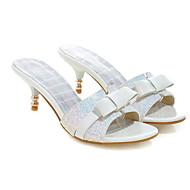 Mujer Zapatos Confort Vaquero Primavera Sandalias Tacón Bajo Blanco / Negro / Rosa