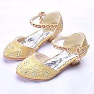 baratos Sapatos de Menina-Para Meninas Sapatos Couro Sintético Primavera & Outono Sapatos para Daminhas de Honra / Salto minúsculos para Adolescentes Saltos para Dourado / Prata / Rosa claro