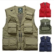 cheap Fishing-Men's Vest / Gilet Hunting / Fishing Windproof / Rain-Proof / Breathability Autumn / Fall / Summer Sports & Outdoor