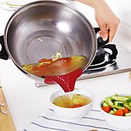 baratos Utensílios de Cozinha-1pç Utensílios de cozinha silica Gel Gadget de Cozinha Criativa Ferramentas / funil