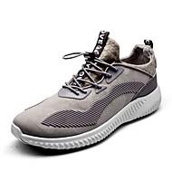 baratos Sapatos Femininos-Unisexo Sapatos Algodão Outono Conforto Tênis Corrida Sem Salto Ponta Redonda Cinzento / Fúcsia / Vermelho