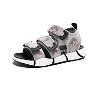 baratos Sapatos de Menino-Para Meninos Sapatos Couro Ecológico Verão Conforto Sandálias Velcro para Infantil Preto / Cinzento